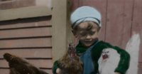 Boy with poultry