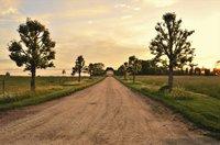 Dusty rural road